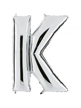 Ballon lettre K argent