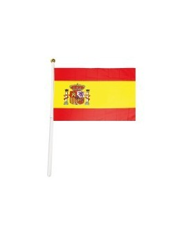 12 drapeaux Espagne tissu 15x23cm