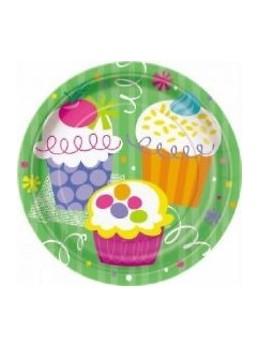 8 assiettes cup cake 17cm