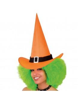 Chapeau de sorcière fluo