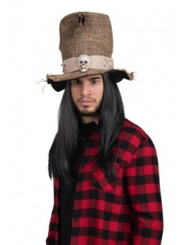 Chapeau haut de forme en jute