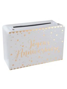 Urne tirelire valise anniversaire