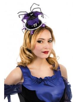 Serre tête mini chapeau araignée