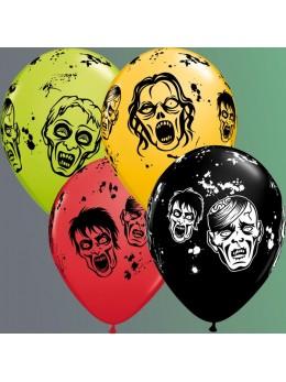 10 Ballons zombies 30cm
