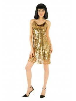 Déguisement robe disco femme or luxe