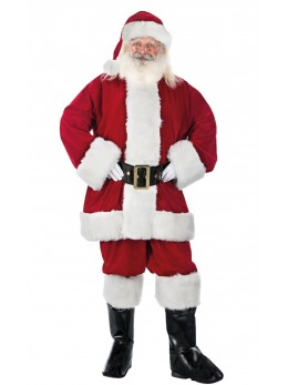 Déguisement Père Noël américain super luxe