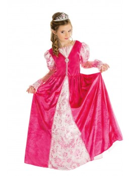 Déguisement princesse rose luxe enfant
