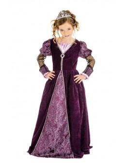 Déguisement princesse pourpre luxe enfant