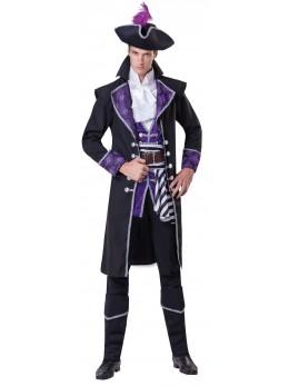 Déguisement capitaine pirate violet