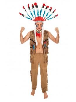 Déguisement indien sioux adulte