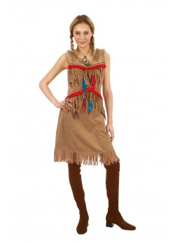 Déguisement indienne sioux adulte