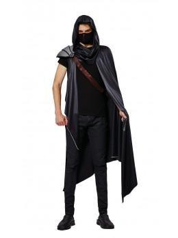 Déguisement cape ninja avec masque