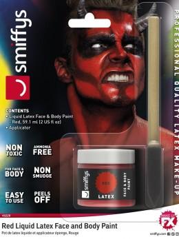Maquillage rouge base latex avec applicateur