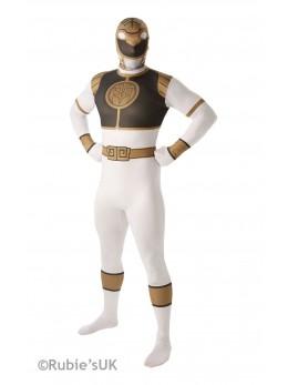 Déguisement seconde peau Power Rangers blanc