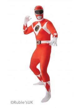 Déguisement seconde peau Power Rangers rouge