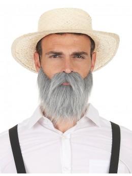 Moustache et barbe grise