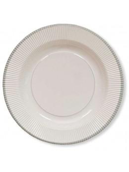 8 assiettes classique argent 21cm