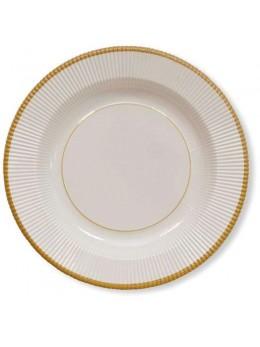 8 assiettes classique or 21cm