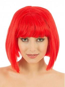 perruque crazy rouge