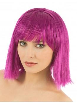 perruque crazy violette