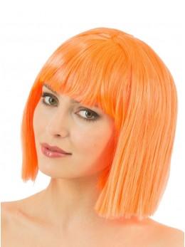 perruque crazy orange fluo