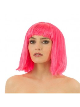 perruque crazy rose fluo