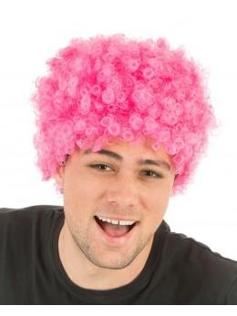perruque pop rose fluo