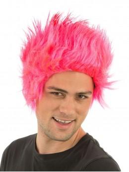 perruque rose fluo