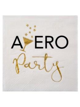 20 Serviettes cocktail apéro Party