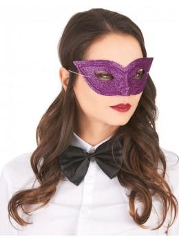 Loup vénitien paillette violet