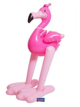 Déco flamant rose gonflable XXL 120cm