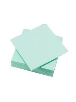 50 Serviettes tendance vert aqua