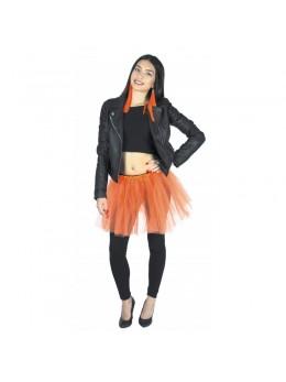 Tutu pour déguisement en tulle orange fluo
