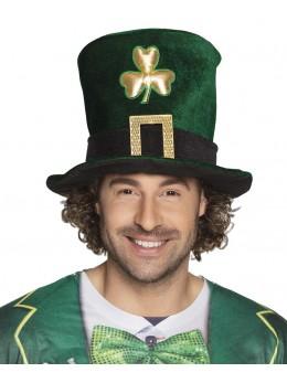 Chapeau haut de forme Saint Patrick trèfles dorés