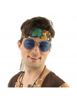 Lunettes Big hippie bleu