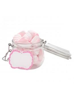 6 étiquettes candy bar rose