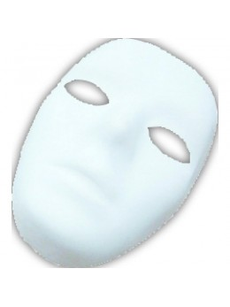 Masque blanc à décorer homme