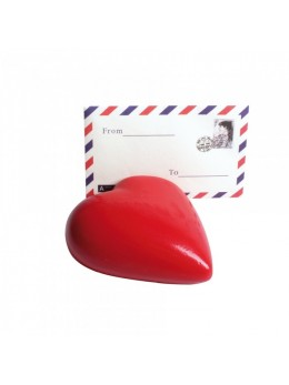 Porte-carte coeur rouge