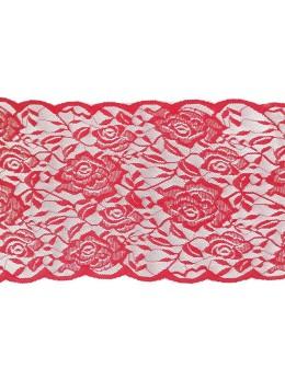 Ruban de table dentelle roses rouges