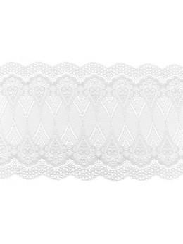 Ruban de table dentelle blanc