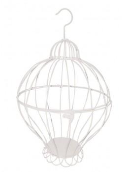 Cage à oiseaux métal blanc 40cm