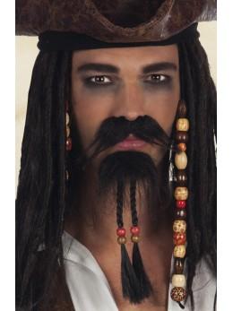 moustache et bouc pirate des caraibes