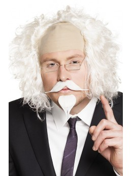 moustache et barbichette blanche