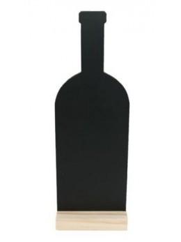 Marque table ardoise bouteille sur support en bois
