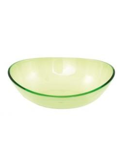 Grand saladier plastique vert 30cm