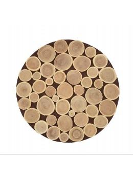 Centre de table rondins naturel 30cm
