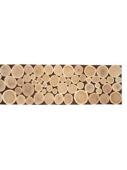 Centre de table rondins naturel 80cm