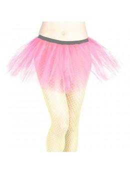 Tutu pour déguisement en tulle rose fluo