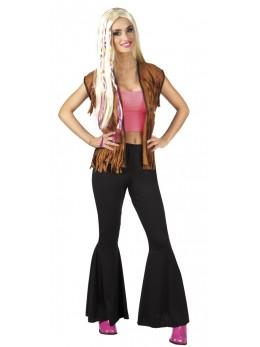 Pantalon femme disco noir