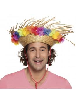 chapeau hawai fleurs